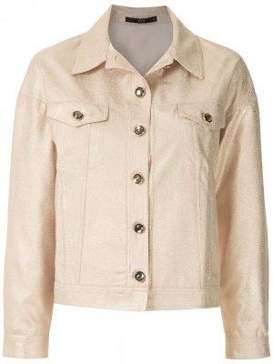 Креповая куртка Onça Eva. Цвет: золотистый