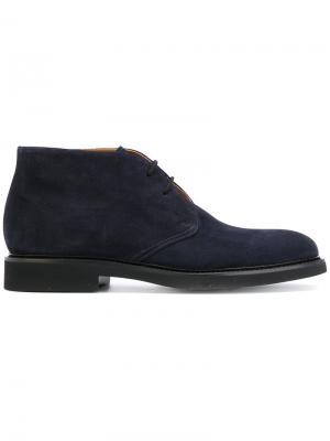Ботинки на шнуровке Doucal's. Цвет: синий