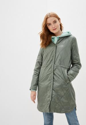 Куртка утепленная b.young. Цвет: зеленый