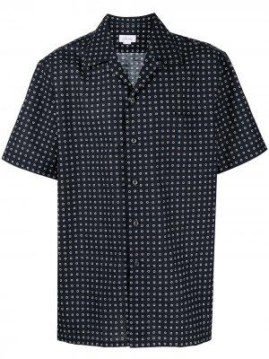 Рубашка с короткими рукавами Brioni. Цвет: синий