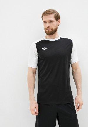 Футболка спортивная Umbro. Цвет: черный