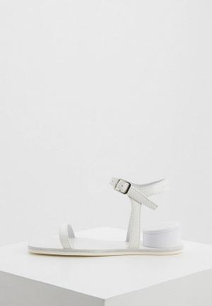 Сандалии MM6 Maison Margiela. Цвет: белый