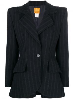 Куртка в полоску Christian Lacroix Vintage. Цвет: черный