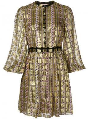 Платье Letter Temperley London. Цвет: золотистый