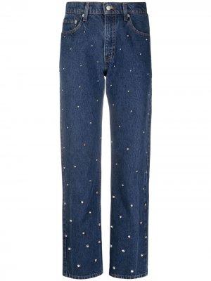 Прямые джинсы с завышенной талией Semicouture. Цвет: синий