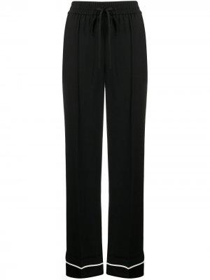 Расклешенные брюки в пижамном стиле RED Valentino. Цвет: черный