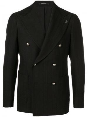 Двубортный пиджак Tagliatore. Цвет: черный