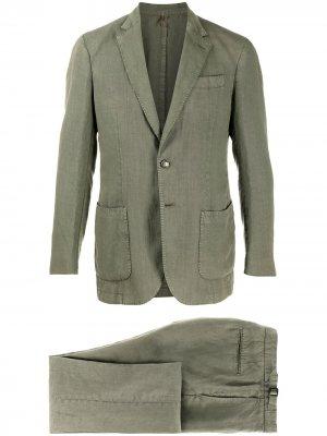 Delloglio костюм с однобортным пиджаком Dell'oglio. Цвет: зеленый