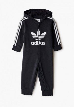 Комбинезон adidas Originals. Цвет: черный