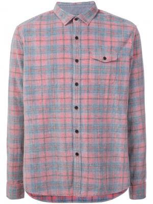 Классическая рубашка в клетку Michael Bastian. Цвет: красный