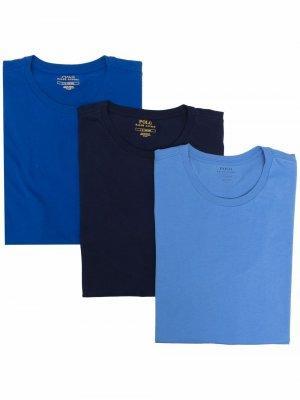 Набор из трех футболок с круглым вырезом Polo Ralph Lauren. Цвет: синий