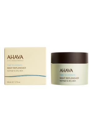 Крем ночной питательный для нормальной и сухой кожи AHAVA. Цвет: прозрачный
