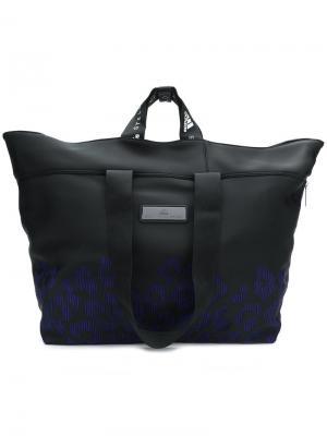 Спортивная сумка с леопардовыми вышитыми деталями Adidas By Stella Mccartney. Цвет: черный