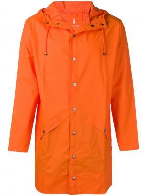 Water-resistant hooded coat Rains. Цвет: оранжевый