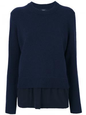 Многослойный свитер Joseph. Цвет: синий