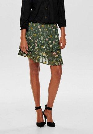Юбка Jacqueline de Yong. Цвет: зеленый