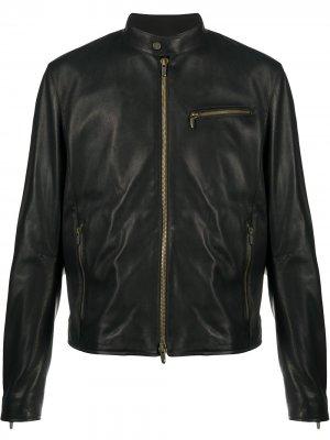 Куртка на молнии Ajmone. Цвет: черный