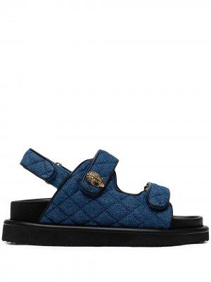 Стеганые сандалии Orson Kurt Geiger London. Цвет: синий