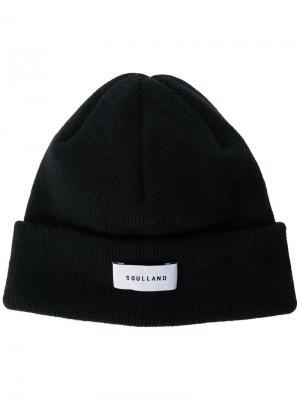 Классическая шапка Soulland. Цвет: чёрный