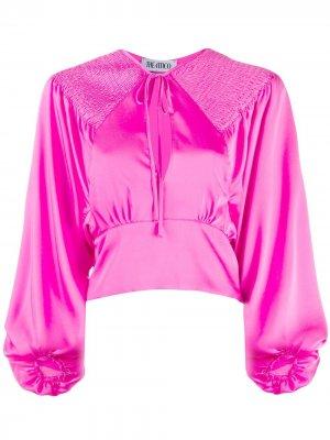 Укороченная блузка со сборками The Attico. Цвет: розовый