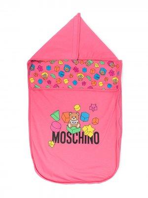 Конверт с принтом Teddy Bear Moschino Kids. Цвет: розовый