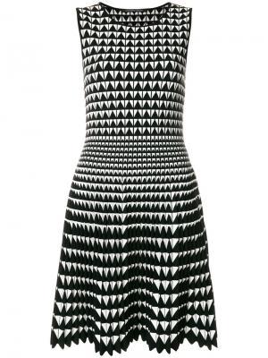 Платье с узором Antonino Valenti. Цвет: черный