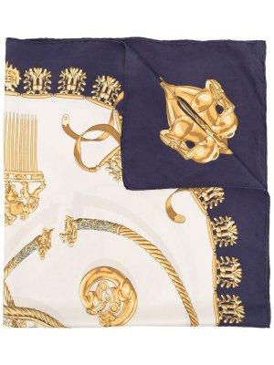 Платок pre-owned с принтом Le Cavaliers Dor Hermès. Цвет: нейтральные цвета