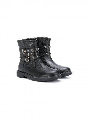 Ботинки Eclair с заклепками Geox Kids. Цвет: черный