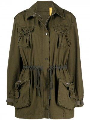 Куртка в стиле милитари с кулиской JW Anderson. Цвет: зеленый