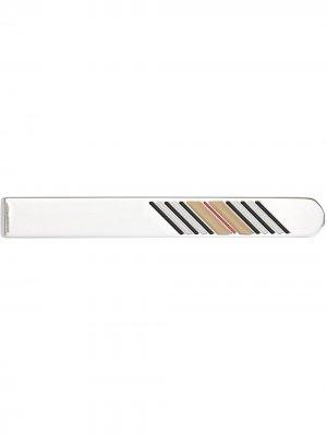 Зажим для галстука с полоской Icon Stripe Burberry. Цвет: серебристый
