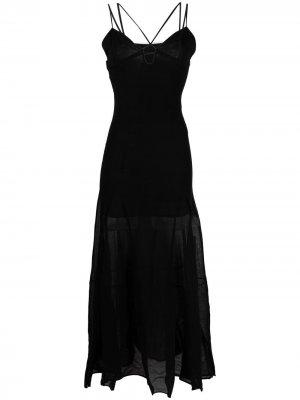 Платье La Robe Basgia Jacquemus. Цвет: черный