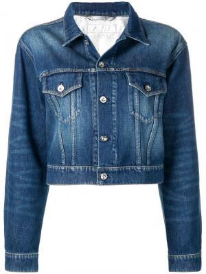 Укороченная джинсовая куртка Paco Rabanne. Цвет: синий