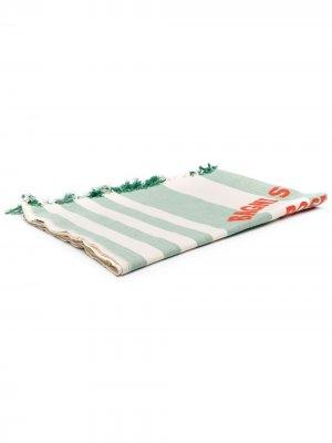 Пляжное полотенце в полоску Mc2 Saint Barth. Цвет: зеленый
