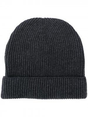Кашемировая шапка бини в рубчик Tom Ford. Цвет: серый