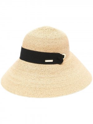 Шляпа с бантом catarzi. Цвет: нейтральные цвета
