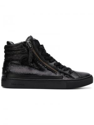 Sequin hi-top sneakers Crime London. Цвет: черный