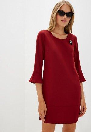 Платье Liu Jo. Цвет: бордовый