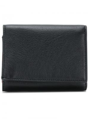 Бумажник с визитницей Maison Margiela. Цвет: черный
