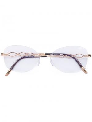 Очки с волнистыми дужками Silhouette. Цвет: металлик
