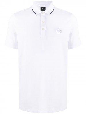 Рубашка-поло с вышитым логотипом Armani Exchange. Цвет: белый