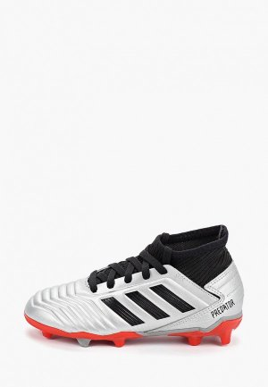 Бутсы adidas. Цвет: серебряный