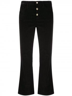 Укороченные расклешенные брюки LIU JO. Цвет: черный