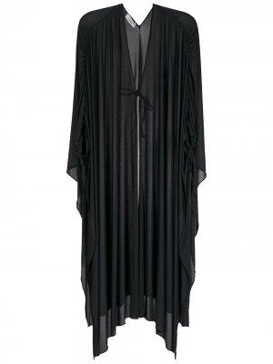 Пляжное платье миди Amir Slama. Цвет: черный