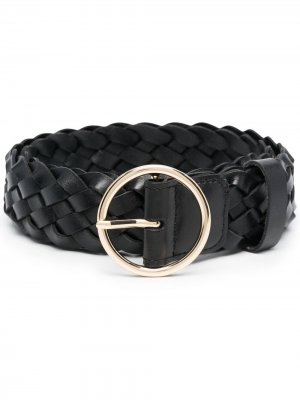 Плетеный ремень с пряжкой-кольцом B-Low The Belt. Цвет: черный