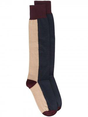 Двухцветные носки Marni. Цвет: коричневый