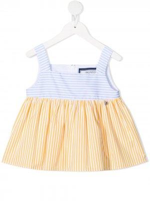 Платье в полоску Simonetta. Цвет: синий