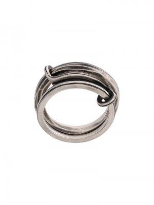 Двойное кольцо Werkstatt:München. Цвет: золотистый