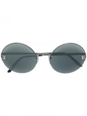 Солнцезащитные очки Panthère Cartier. Цвет: металлик