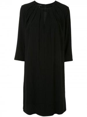 Платье-трапеция с вырезом Escada. Цвет: черный