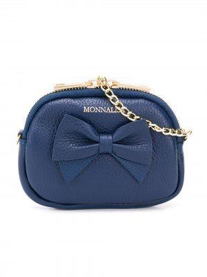 Мини-сумка с бантом Monnalisa. Цвет: синий